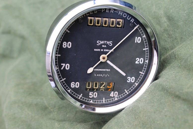 SMITHS S433/1/L 80 miles chronometric speedometer tacho mijlenteller