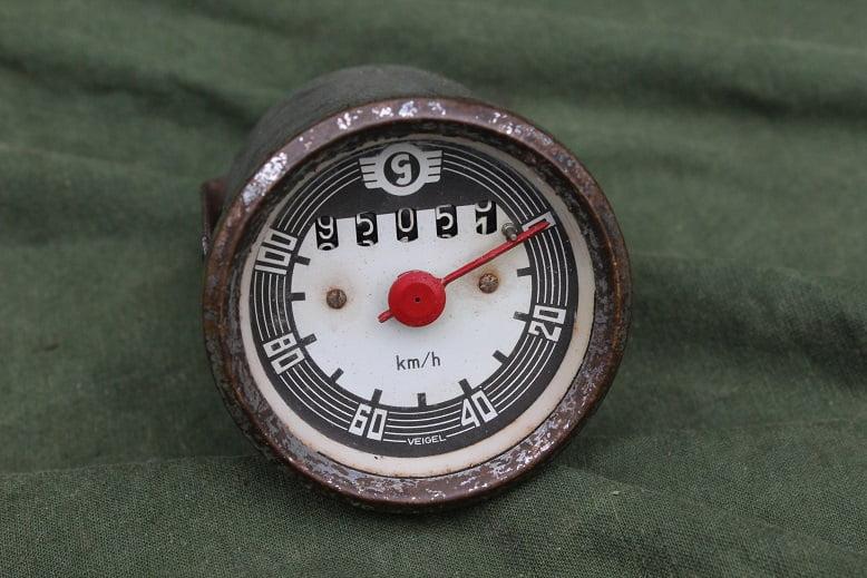 VEIGEL GOGGO  100 KM teller tacho speedometer 1956