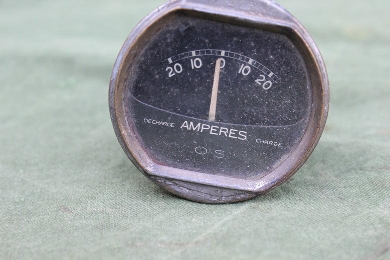 O.S. 20 – 20 ampere meter ammeter  1930's