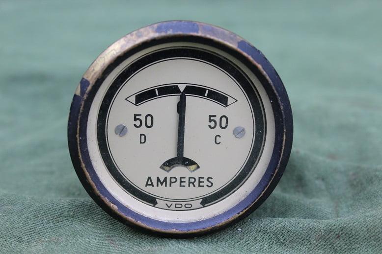 VDO 50 – 50 ampere meter ammeter 1955