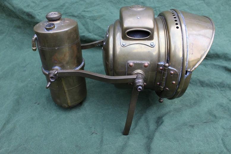 JOSEPH LUCAS No. 462 No. 51 generator carbidlamp set motorcycle  acetylene set motorrad karbid lampe  satz