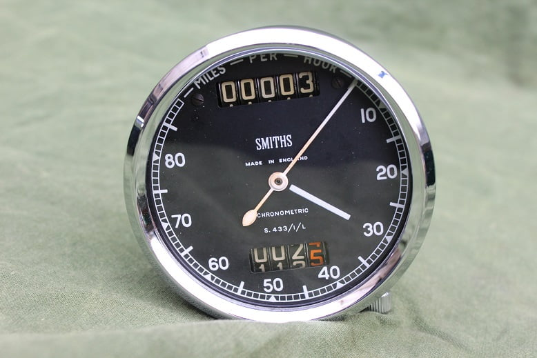 SMITHS S433/1/L 80 miles chronometric speedometer mijlen teller tacho