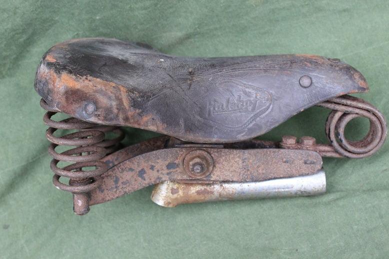 HULHOF leren zadel sattle sattel bakfiets 1940 / 1950