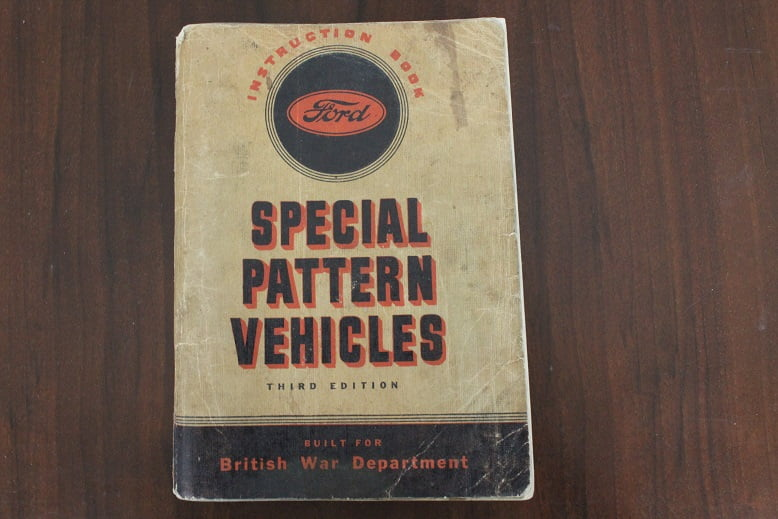 instruction book FORD special patern vehicles 8 CWT 15 CWT 30 CWT british war department