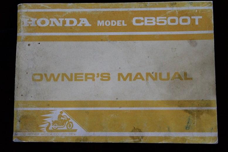 HONDA CB500T 1974 owner's manual CB 500 T beriebsanleitung instructie boekje