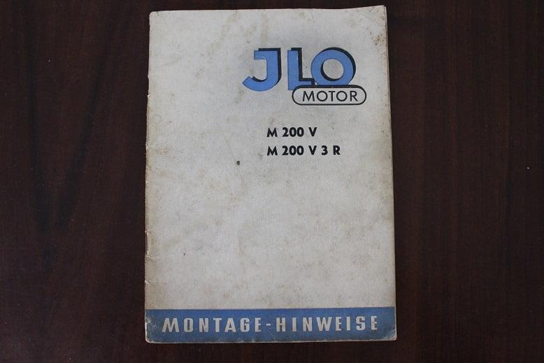JLO M200 V M200 V 3 R 1955  montage hinweise werkplaatsboekje
