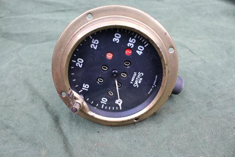 SMITHS MA 1930's angled trip reset speedometer tacho mijlenteller X46512/1 40 miles