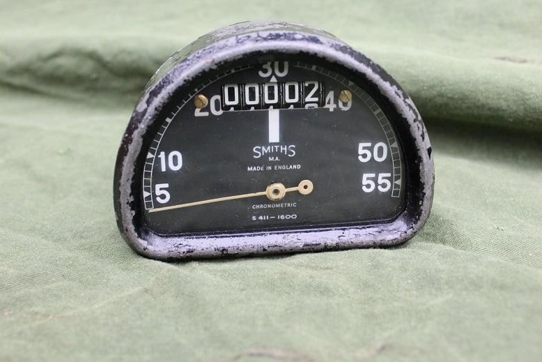 SMITHS S411 1600 55 Mph D type chronometric speedometer tacho mijlen teller