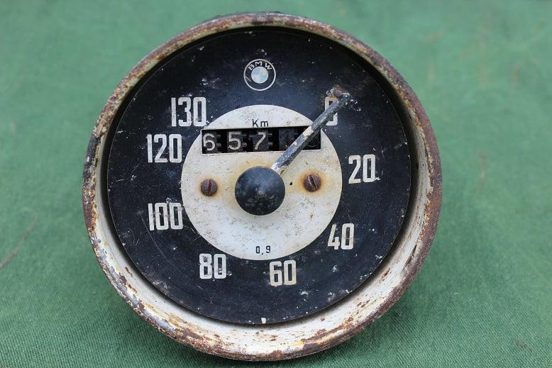BMW 1957  130 KM motorcycle speedometer motorrad tacho kilometer teller VDO ? Veigel ??