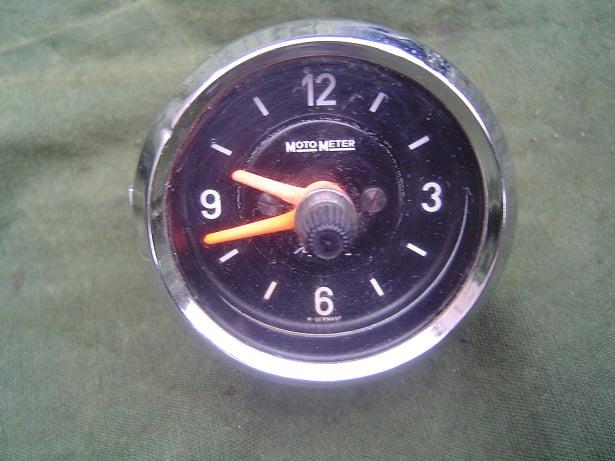 KIENZLE MOTO METER 12 volts auto klokje PKW uhr car clock
