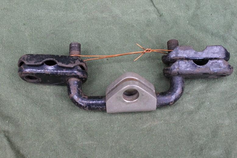 motorfiets voorvork koplamp beugel 1920/1930 motorcycle headlamp bracket fork mounted