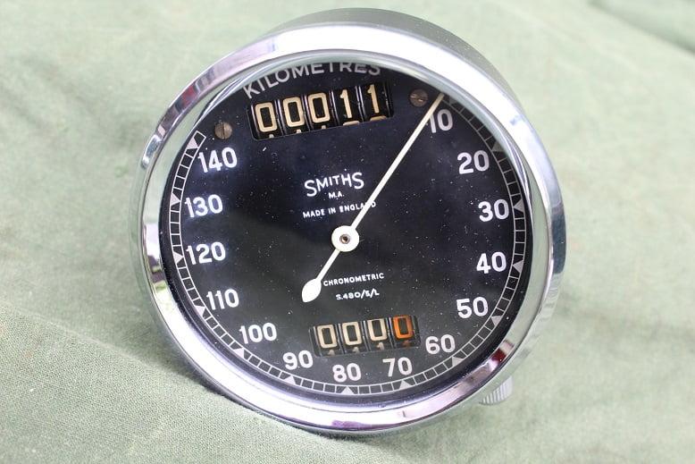 SMITHS S480/5/L 140 KM chronometric kilometer teller speedometer tacho S 480 /5/L