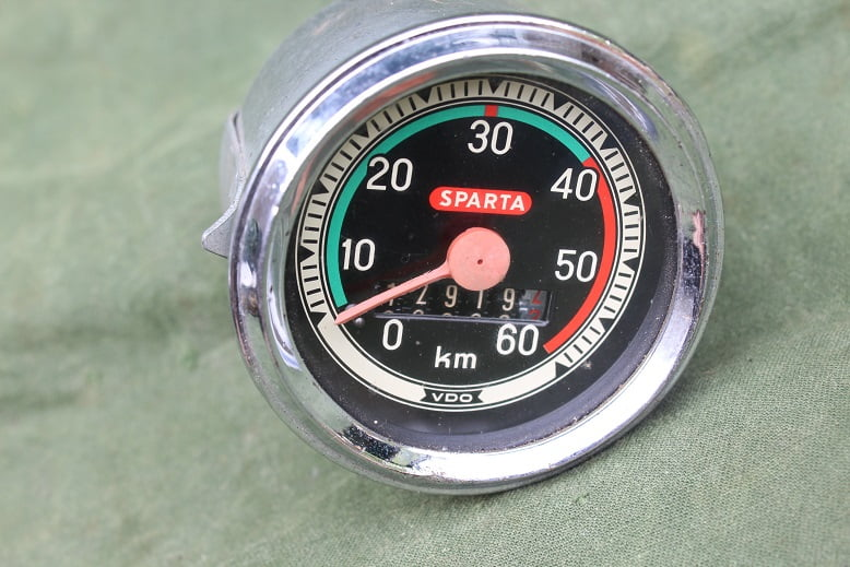 SPARTA VDO 1969 60 KM bromfiets kilometer teller moped speedometer tacho