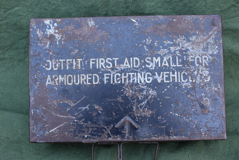 VERBAND TROMMEL first aid case small armoured fighting vehicles WD WOII WWII