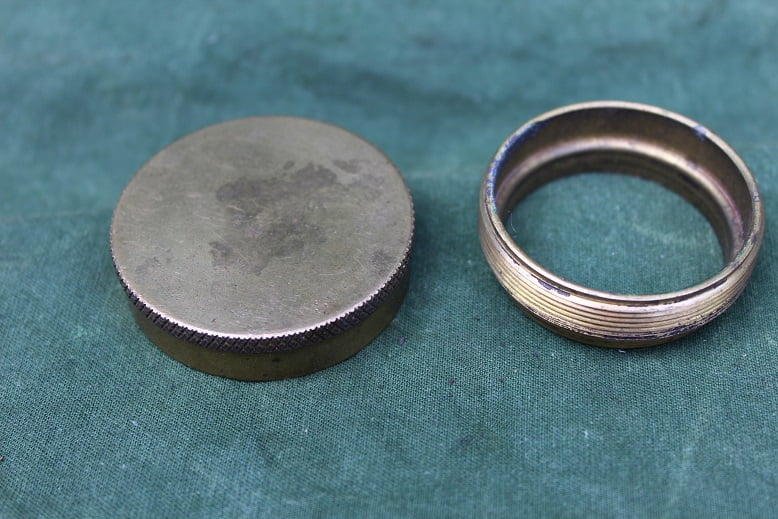 bronzen benzine dop met kraag bronze petrol cap