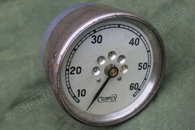 COWEY 1920's 60 mijlen teller speedometer tacho 60 Mph