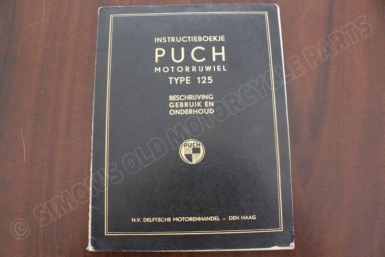 PUCH type 125 instructie boekje 1949 ? owner's manual