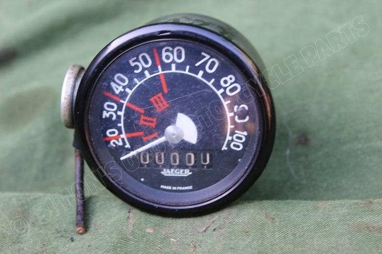 2CV JAEGER 100 KM kilometer teller tacho speedometer 2 CV 1950's DEUX CHEVAUX