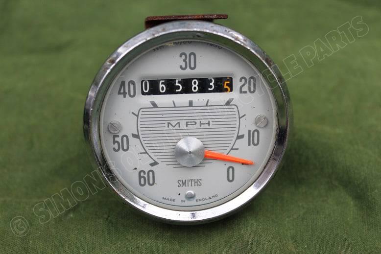 SMITHS SSM 1100/00 1400 magnetic 60 miles speedometer mijlenteller tacho