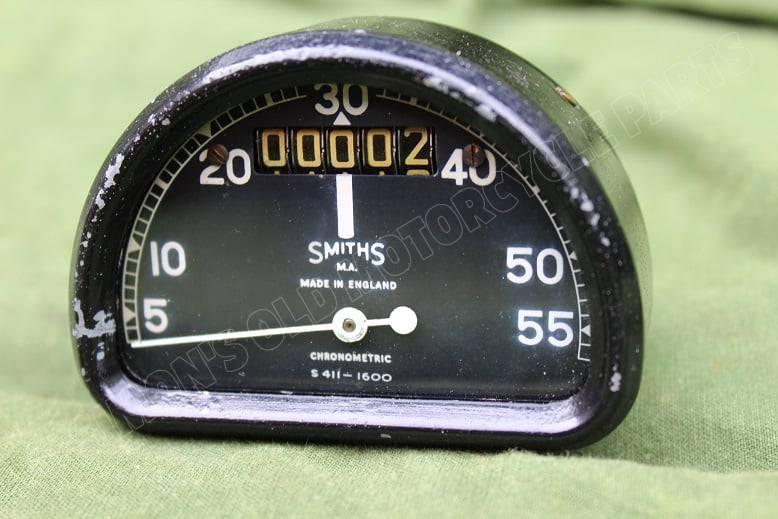 SMITHS S411-1600 55 Mph D type chronometric speedometer tacho mijlenteller BSA Bantam ??