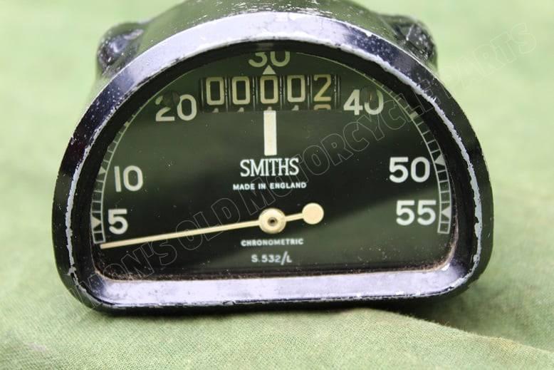 SMITHS S532-L 55 Mph D type chronometric speedometer mijlenteller tacho anti clock input