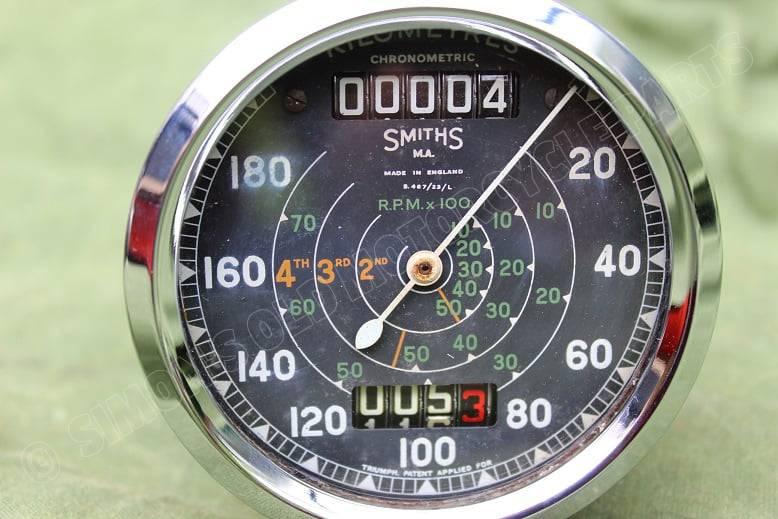 SMITHS S467/23/L chronometric 180 km kilometer teller speedometer tacho Triumph