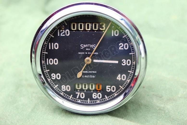 SMITHS S467/59 120 Mls chronometric speedometer mijlenteller S 467 / 59