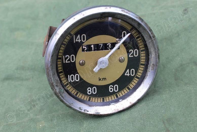 VDO 140 KM kilometer teller speedometer tacho 1955 80 mm