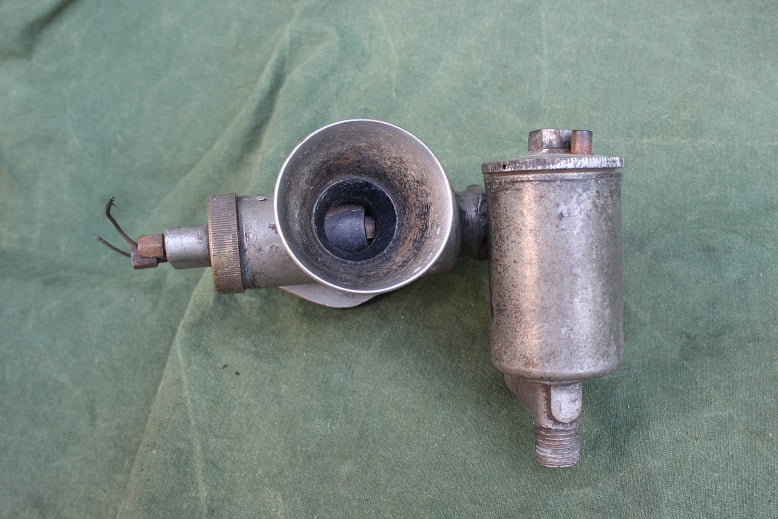 AMAL 4/005 bronzen carburateur vergaser carburettor angled floatchamber 1930's motorcycle