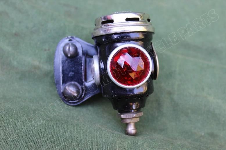 POWELL & HAMMER carbid achterlicht acetylene rearlamp karbid rucklicht P&H 1920's NOS