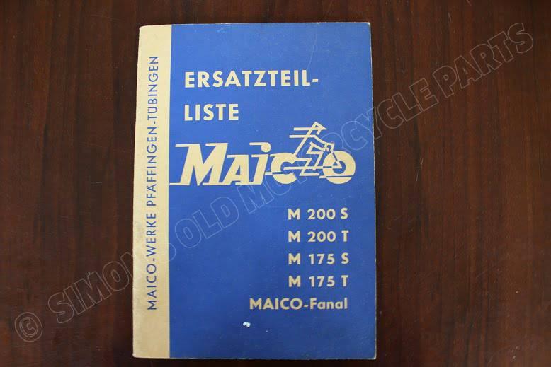 MAICO M200 M175 FANAL ersatzteil liste parts list onderdelen boekje