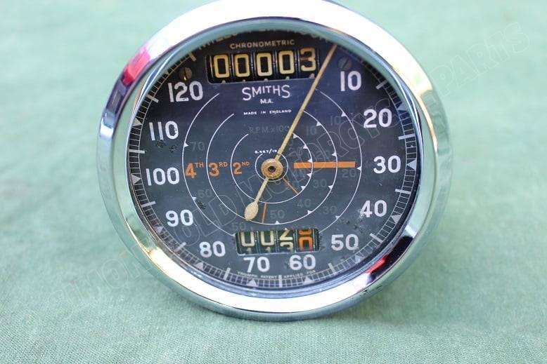 SMITHS S467/19/L 120 Mph chronometric mijlenteller tacho speedometer