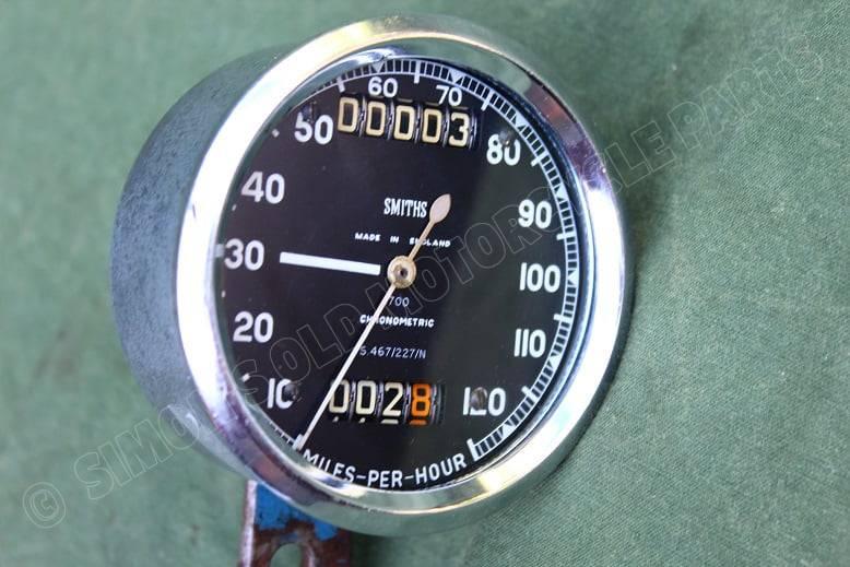 SMITHS S467/227/N 120 Mph chronometric mijlenteller speedometer tacho