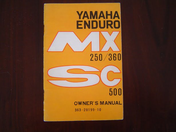 YAMAHA Enduro MX250 MX350 SC500 1973 owner's manual