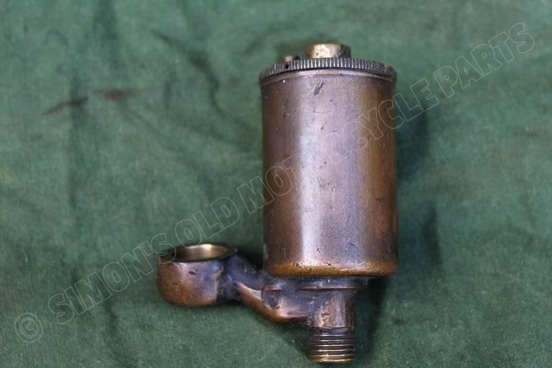 AMAL amalgamated 1930's angled bronze floatchamber bronzen vlotterkamer HELD reserved  schwimmerkammer