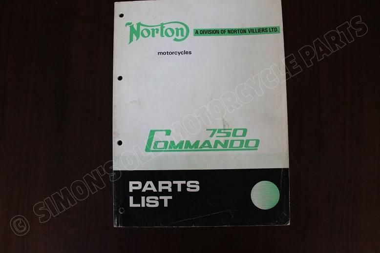 NORTON 750 COMMANDO parts list