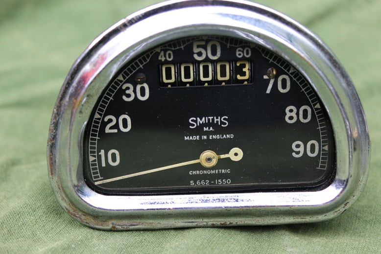 SMITHS S662 D type 90 Mph chronometric speedometer mijlenteller tacho