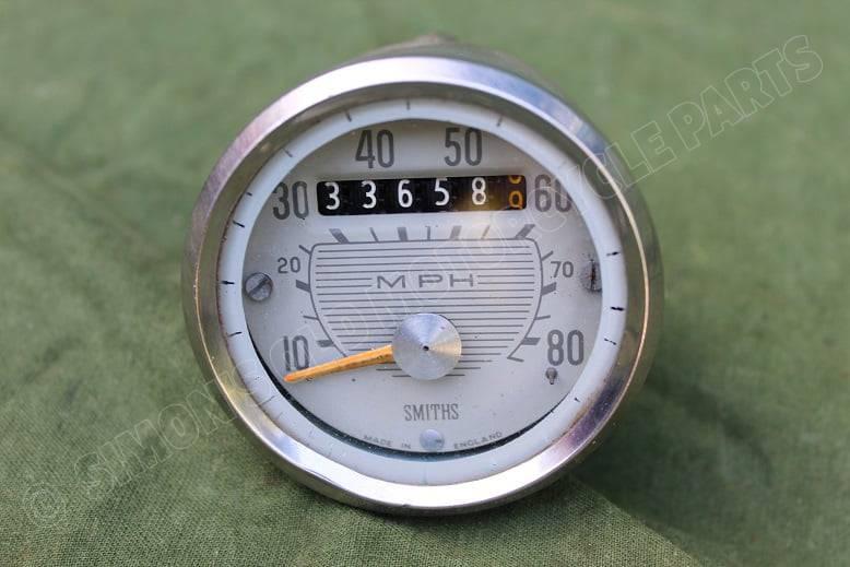 SMITHS SSM2001/00 1600 magnetic 80 mijlenteller 80Mph speedometer tacho