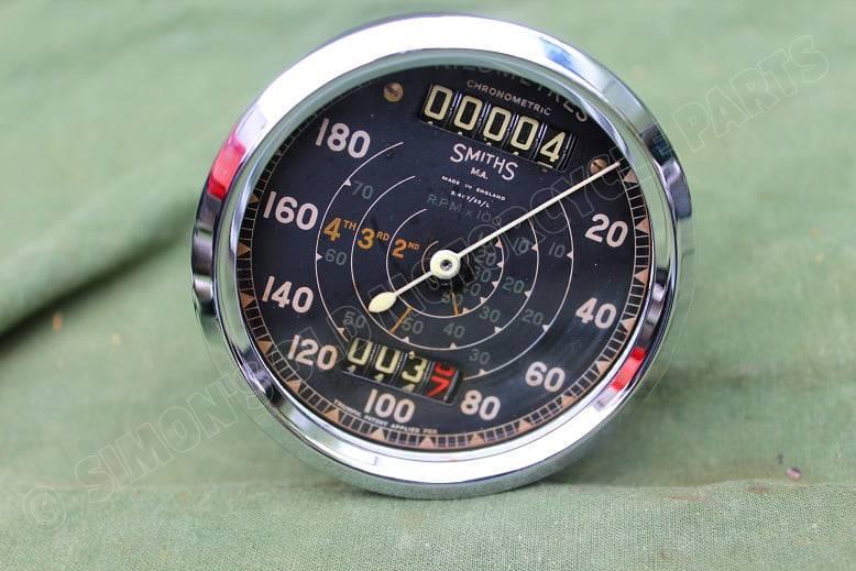 SMITHS S467/23/L 180 KM kilometerteller chronometric speedometer tachometer HELD reserved Triumph