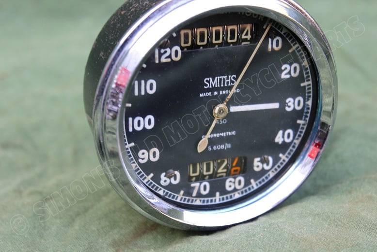 SMITHS S608/11 120 Mph chronometric speedometer mijlenteller tacho BSA ??