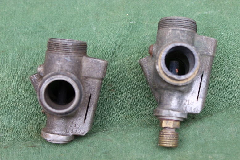 2 AMAC T19 bronzen carburateur huizen bronze carburettor body  vergaser gehause