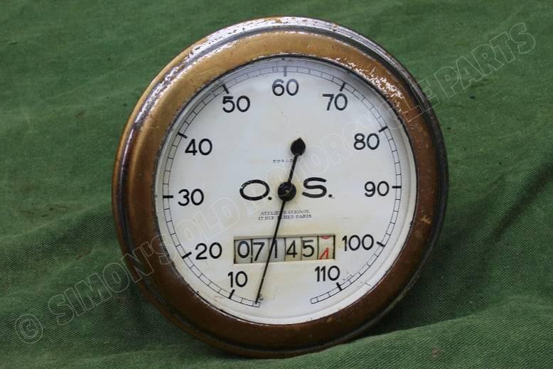 O.S. 110 KM 1930's kilometer teller speedometer tacho