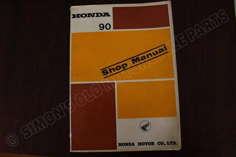 HONDA S 90  1965 shop manual S90