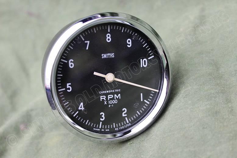 SMITHS RC 1307/02 2-1 10000 RPM chronometric toerenteller rev counter drehzahlmesser r