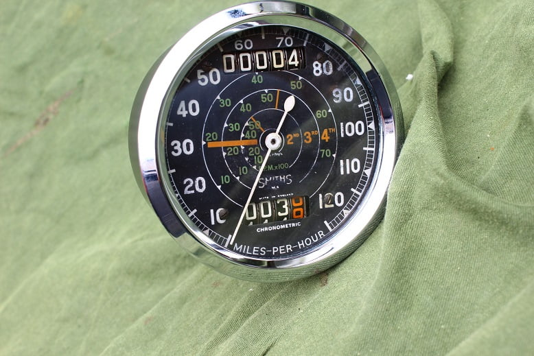 SMITHS S467/99/L 120 Mph chronometric mijlenteller speedometer tacho TRIUMPH
