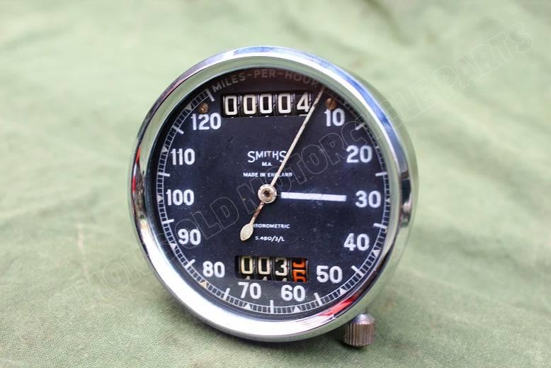 SMITHS S480/3/L 120 Mph chronometric speedometer mijlenteller tacho