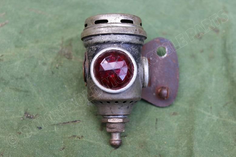 POWELL & HAMMER P&H 1920's carbid achterlicht acetylene rearlamp karbid rucklicht