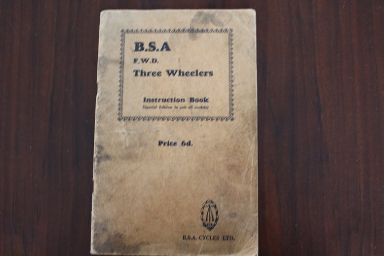 BSA F.W.D. three wheelers instruction book 2 and 4 cilinders