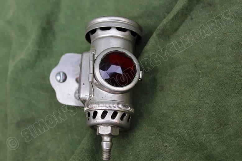 JOSEPH LUCAS No. 344 1924 motorfiets carbid achterlicht acetylene rearlamp HELD reserved karbid rucklicht