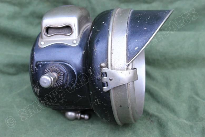 POWELL & HAMMER no. 120 motorfiets carbidlamp acetylene lamp motorrad karbidlampe